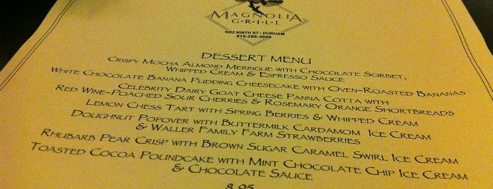 Magnolia Grill is one of Best Restaurants of 2011.