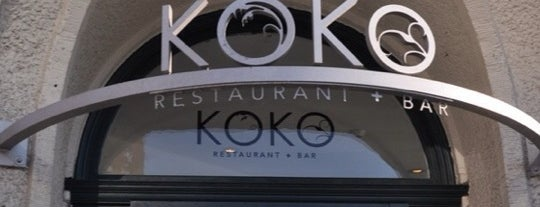 KOKO Restaurant + Bar is one of My Hot Spots.