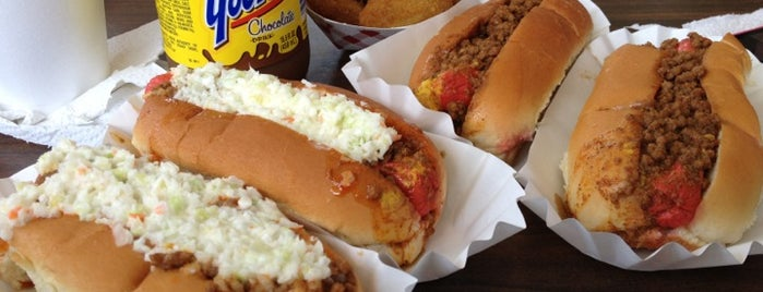 Brandi's World Famous Hot Dogs is one of Dan's Favorite Diners, Dives, and Drive-ins.