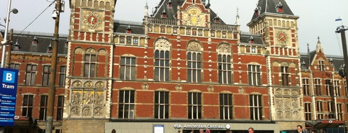 Amsterdam Central Railway Station is one of stations.