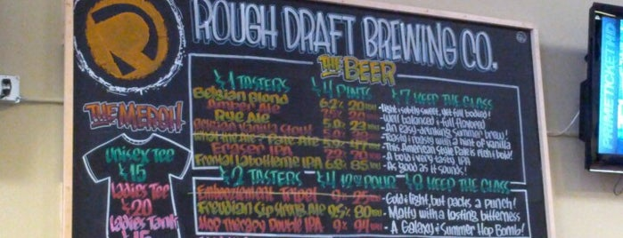 Rough Draft Brewing Company is one of San Diego Brewery and Beer Pubs.