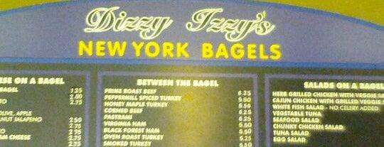 Dizzy Izzy's New York Bagels is one of Breakfast: PATH to Soho.