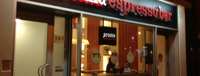 Aroma Espresso Bar is one of Espresso - Manhattan >= 23rd.