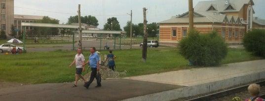 Ж/д станция Ин is one of Транссибирская магистраль.