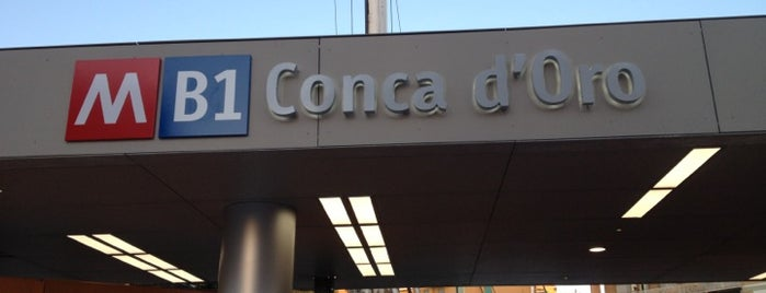 Metro Conca D'Oro (MB1) is one of Muoversi a Roma.