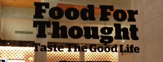 Food For Thought is one of Go-to spots.