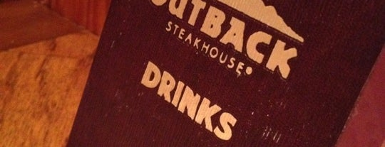 Outback Steakhouse is one of Tina's fav dining spots.