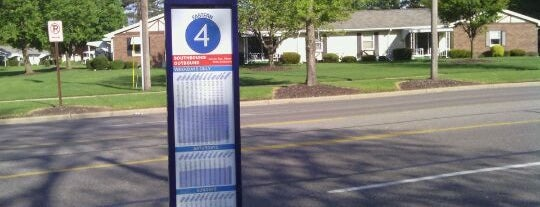 Rapid Bus Stop Route # 4 is one of Rapid Stops 2 Fix Later.