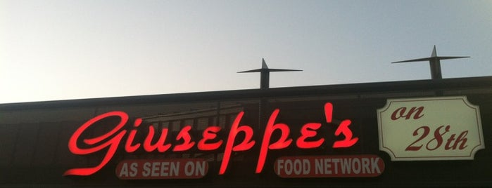 "Giuseppe's Italian Kitchen is one of ""Diners, Drive-Ins & Dives"" (Part 1, AL - KS)."