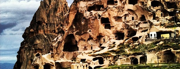 Uchisar Castle is one of Cappadocia.