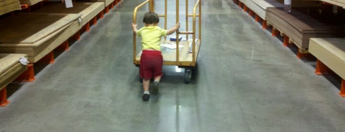 The Home Depot is one of places.