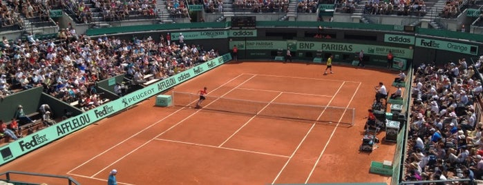 Court n°1 is one of Roland Garros 2013.