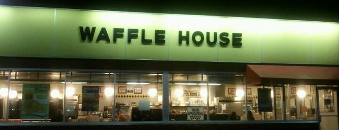 Waffle House is one of frequently visited.