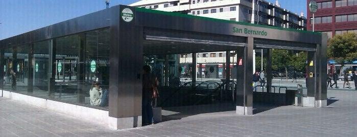 METRO San Bernardo is one of Metro de Sevilla - Línea 1.