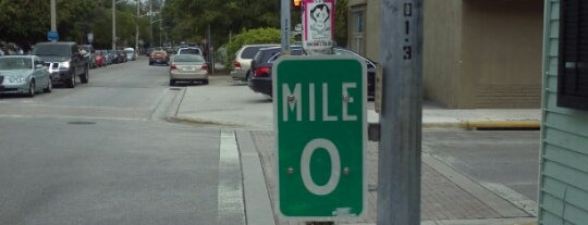 US-1 Mile Marker 0 is one of Key West, FL.