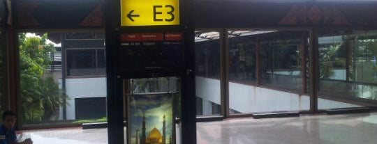 Gate E3 is one of Soekarno Hatta International Airport (CGK).