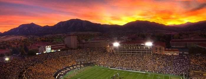 Folsom Field is one of Pac-12 Football Stadiums.