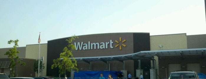 Walmart Supercenter is one of just a list of places.