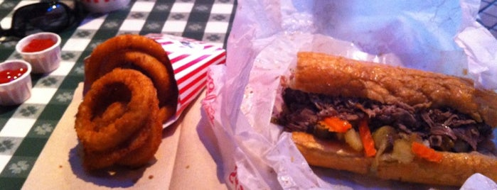 Portillo's is one of Italian Beef Sandwiches: Chicago.
