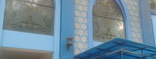 Masjid Biru Atthohirin is one of sholat dl...