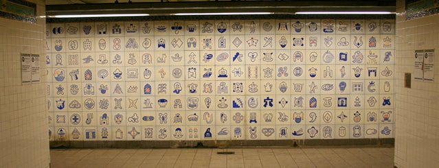 MTA Subway - Canal St (6/J/N/Q/R/W/Z) is one of Subway Art in NYC.
