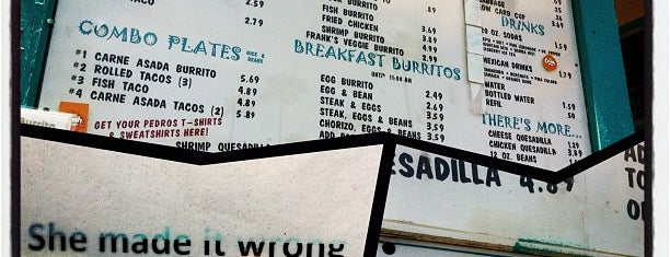 Pedro's Tacos is one of san clemente.