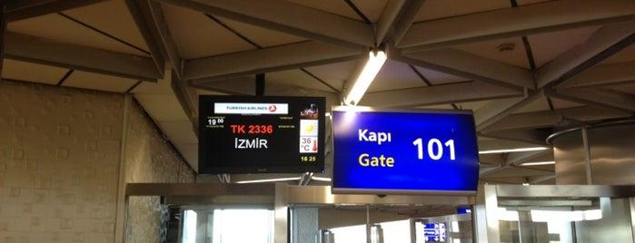 Gate 101 is one of atatürk havalimani hava ve kara tarafı.