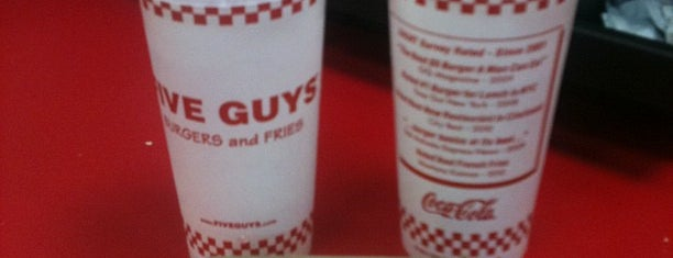 Five Guys is one of Lukas' South FL Food List!.