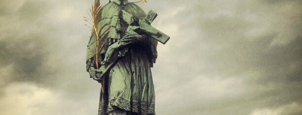 Statue of Saint John of Nepomuk is one of Prague.