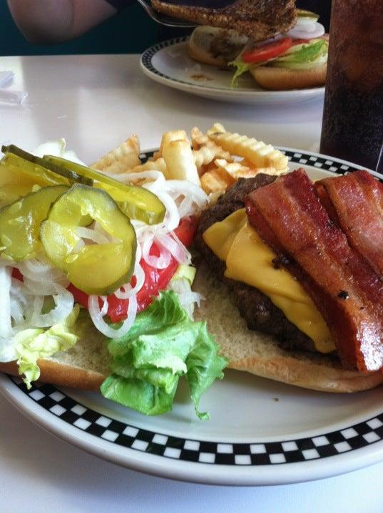 Rock Cola 50's Cafe, breakfast buffet, choc-cola, reuben sandwich,giant pork chop sandwich