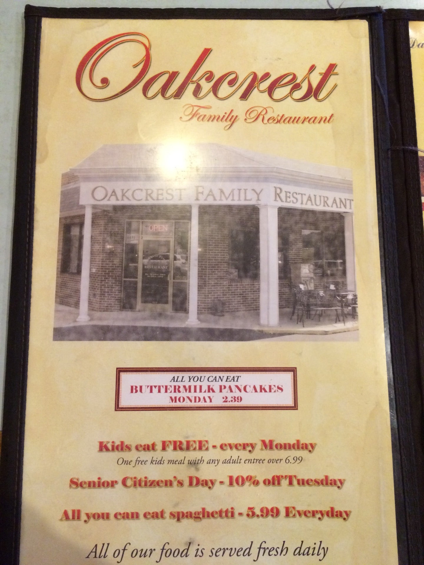 Outstanding Oakcrest Family Restaurant In Greensboro Parent Reviews On Download Free Architecture Designs Scobabritishbridgeorg