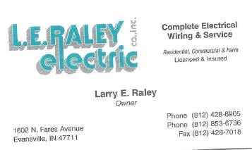 L E RALEY ELECTRIC CO  INC,