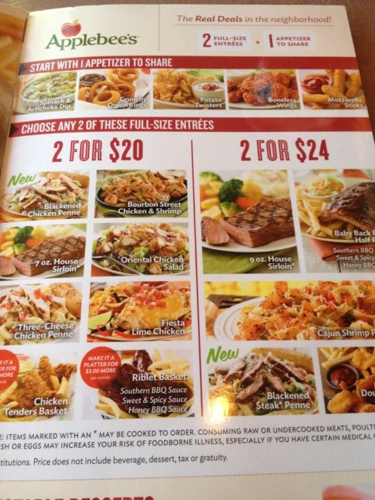 Need to know menu prices for Applebee's? We have the full menu, item prices, meal prices, and more.