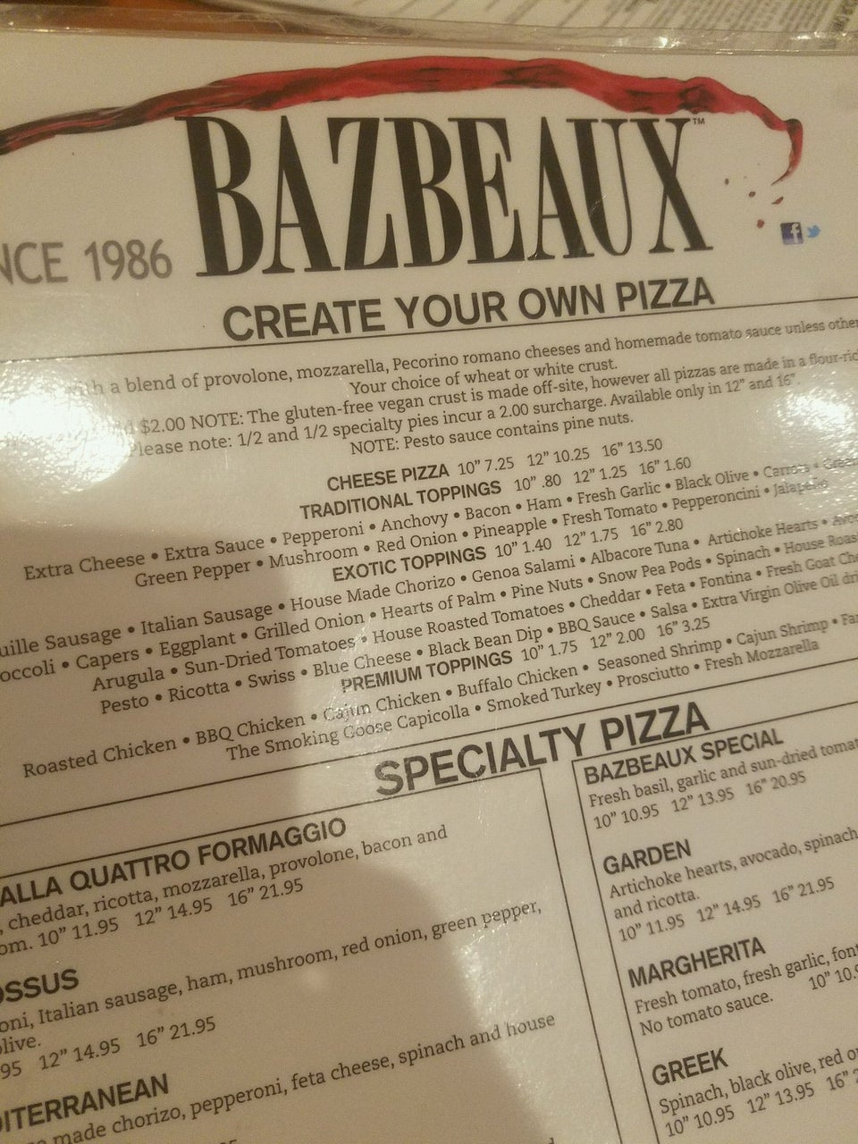 Photo of Bazbeaux Pizza - Downtown