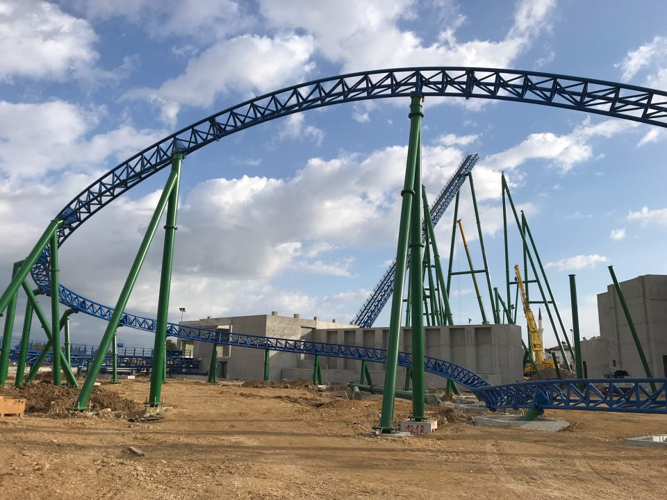 Land of Legends hyper coaster work continues rollercoasters